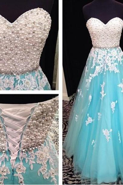 Light Blue Prom Dresses, Light Blue Long Evening Dress Women Summer Dress A Line Vestido De Festa Abendkleider